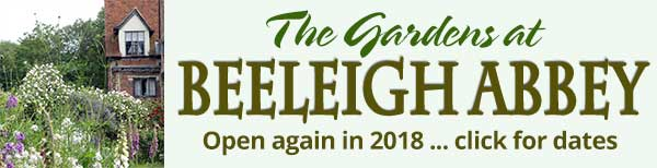 The gardens at Beeleigh Abbey are open again in 2018