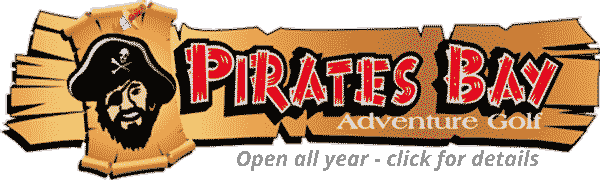 Pirates Bay Adventure Golf is open all year - click for details
